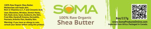 shea butter label output